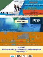Sesion 03 I-12 Bases Pedagogicas II -2020