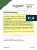 Certification of fly ash for concrete - EN 450-1