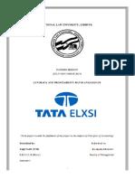 Ratio Analysis of Tata Elxsi