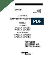 Gardner Denver APO APL Parts List