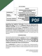 ACTA DE INICIO 005-2019