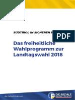Programm zur Landtagswahl 2018 | Südtirol in sicheren Händen