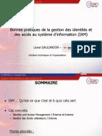 Bonnes pratiques de la gestion des identités et des accès au système d information (IAM)