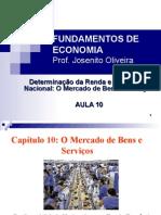 FUNDAMENTOS_DE__ECONOMIA,_Determinação_da_Renda_e_do_Produto_Determinação_da_Renda_e_do_Produto__Nacional_O_Mercado_de_Bens_e_Serviços_-_Prof._Joseni