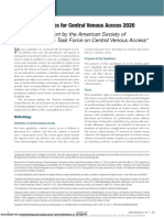 Practice Guidelines for Central Venous Access 2020 an Updated Report by the American Society of Anesthesiologists Task Force on Central Venous Access.pdf