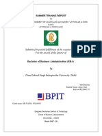 BBA project report (the study of loan and advances of Punjab and Sind bank)