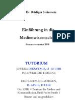 105 - Medienwissenschaft - VL 1-6 - Steinmetz