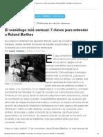 El semiólogo mas sensual 7 claves para entender a Roland Barthes