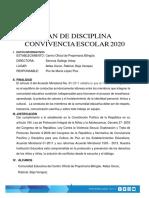 PLAN DE CONVIVENCIA 2020