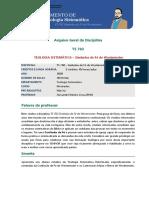 Arquivo Geral da Disciplina TS 702