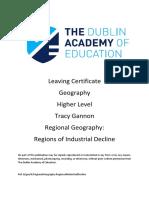 Regional Geography - Region of Industrial Decline