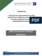 4.1. Especificaciones Tecnicas Generales