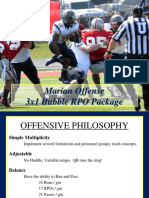 3x1 Bubble RPO Package - Andy Mitchel - Marian Univ