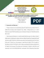 MSME Concept Paper