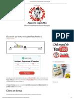 El pasado perfecto en inglés (Past Perfect) - Aprende Inglés Sila