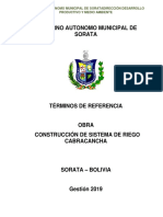 ESPECIFICACIONES TECNICAS PROYECTO CONSTRUCCION SISTEMA DE MICRORIGO CABRACANCHA