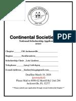 2019-2020 National Continental Scholarship Application (1)