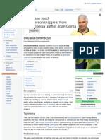Cat's Claw - Uncaria Tomentosa - Wikipedia, The Free Encyclopedia - BoticaPeru.com