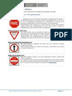 Señales de Transito (reguladoras, prevencion e informacion) en el Peru