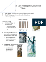 Weathering Erosion Deposition Review Notes