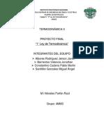TERMODINÁMICA I Proyecto Final