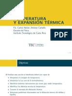 Temperatura y expansión térmica