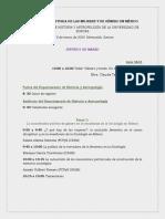 Programa VIII COLOQUIO HISTORIA DE LAS MUJERES Y DE GÉNERO EN MÉXICO Versión final
