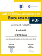 Lider European_CERTIFICAT ELEV 682