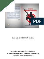 Cristian BARNA_Forme de manifestare a terorismului