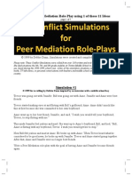 Create Peer Mediation Role Play