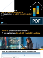 SAP Analytics Cloud - How to Create and Connect a R Visualization to a SAC Model
