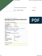 RETORICA E LINGUAGGI PERSUASIVI _ Università degli Studi di Siena