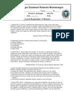 CERM_Recuperação_Sociologia_3º Ano_Prova 3º Bim