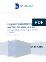 ESCANEO Y DIAGNOSTICO - MOTORES CAT 3516C - RM SUR - 30.11.2019