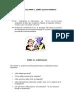 METODOLOGÍA PARA EL DISEÑO DE CUESTIONARIOS