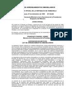 LEY DE ARRENDAMIENTOS INMOBILIARIOS - GACETA OFICIAL DE LA REPÚBLICA DE VENEZUELA  Caracas, 07 de diciembre de 1999 Nº 36.845