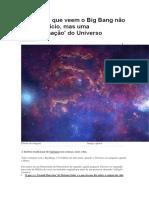 As teorias que veem o Big Bang não como o início