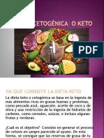 DIETA CETOGÉNICA  O KETO. exp.