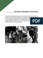 CYCLE Kids 2011 Boston Marathon Team Guide