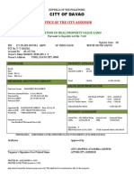 tax declaration sample