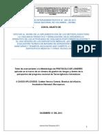 Talleres protocolo de Londres dispositivos médicos con Teoría Andragogíca 2013