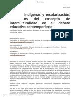 García Palacios HETCH 2015 INTERCULTURALIDAD Y EDUCACIÓN
