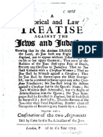 1703 - Historical Treatise against the Jews & Judaism