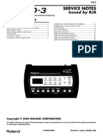 Roland TD-3 Service Notes