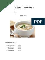 Laporan Prakarya cream soup