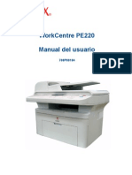 Manual de Impresora Xerox Work Centre PE220