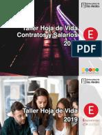 Taller HV & contratos y salarios 2019