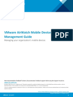 VMware AirWatch Mobile Device Guide