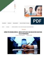 registe electronique sûreté mobilière