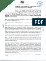 Reglamento sobre la distribución de la contribución económica del Estado a los partidos políticos para el 2020